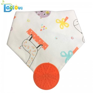 100% Cibí Leanbh Cotton do Chailíní Teachtaire Teochrach Bandana Bib Teething Bandana Bibs for Boys