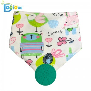 Cotton Cadás Bog Orgánach Orgánach Bandana Teether Bib Unisex Bibíní Bandol Drool le Teether