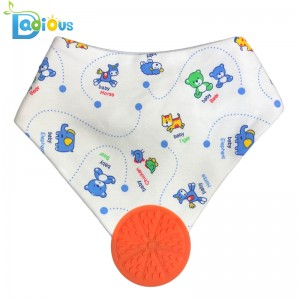 Bib Cotton Cad a Díolann Barr Amazon le Teether Boy Teether Bib Bandana Teibí do Chailíní